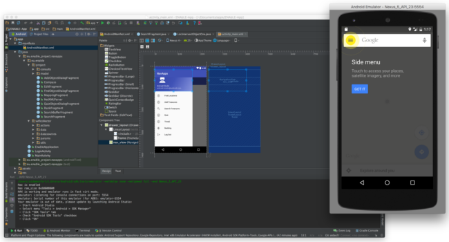 Android native apps Android Studio